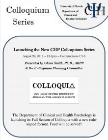 Colloquium, August 24, 12pm, Communicore C1-3