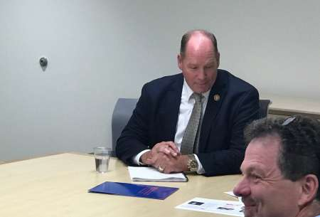 Rep Yoho meets with department faculty