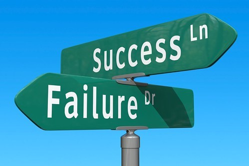 "street sign intersection showing ""success"" and ""failure"""
