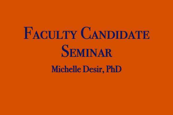 Faculty Candidate Seminar