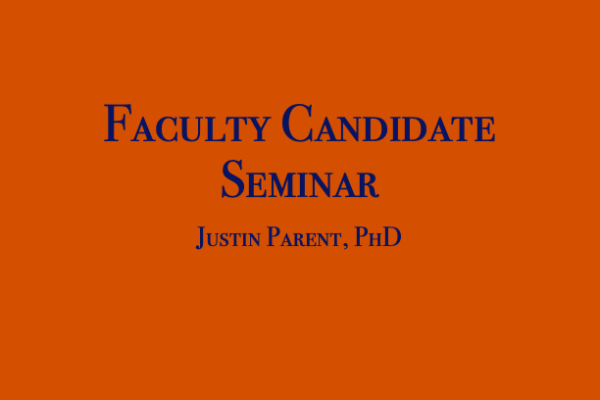 Faculty Seminar Dr. Parent